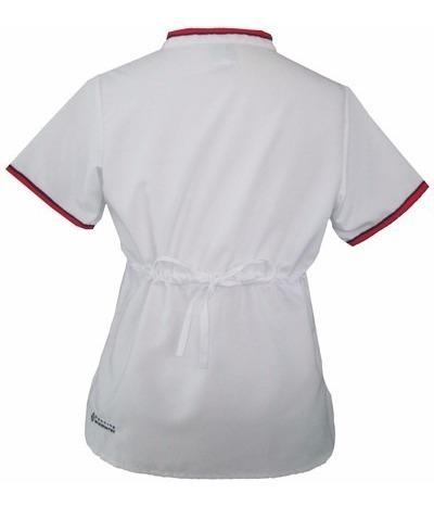 conjunto dynasty cd05 blanco rojo marino uniforme medico