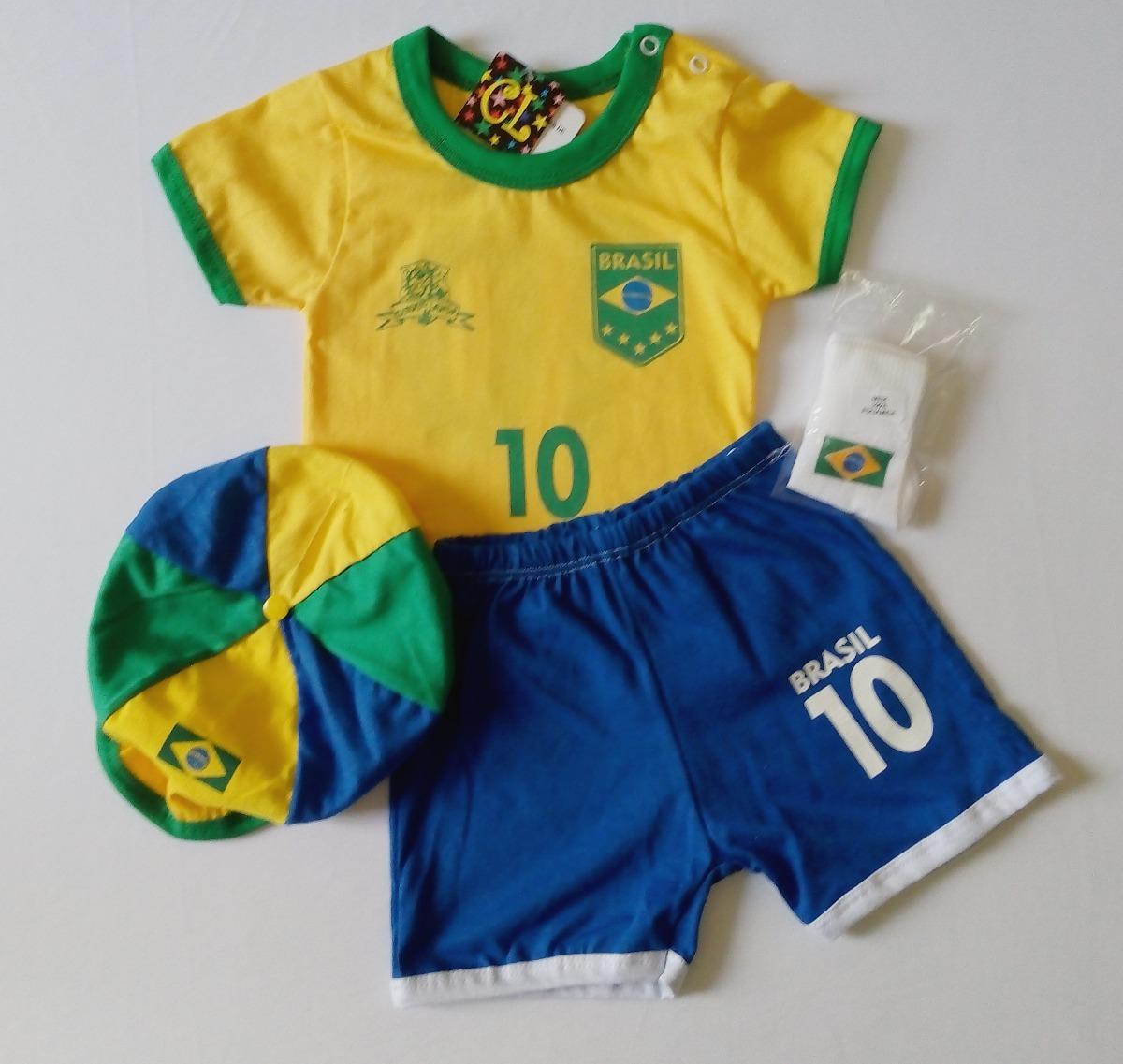 conjunto e vestido infantil seleção brasileira- atacado. Carregando zoom. 595db5a67a425