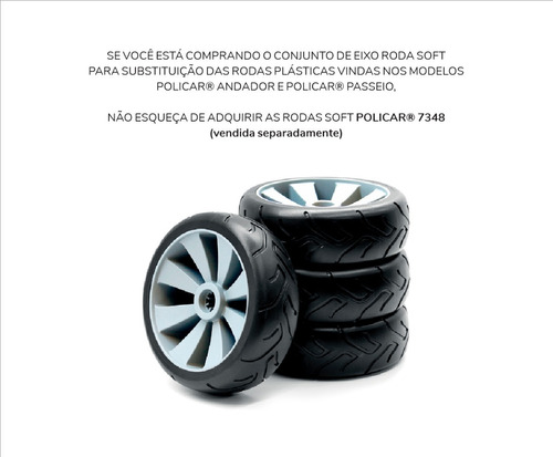 conjunto eixo roda soft - policar® 7362
