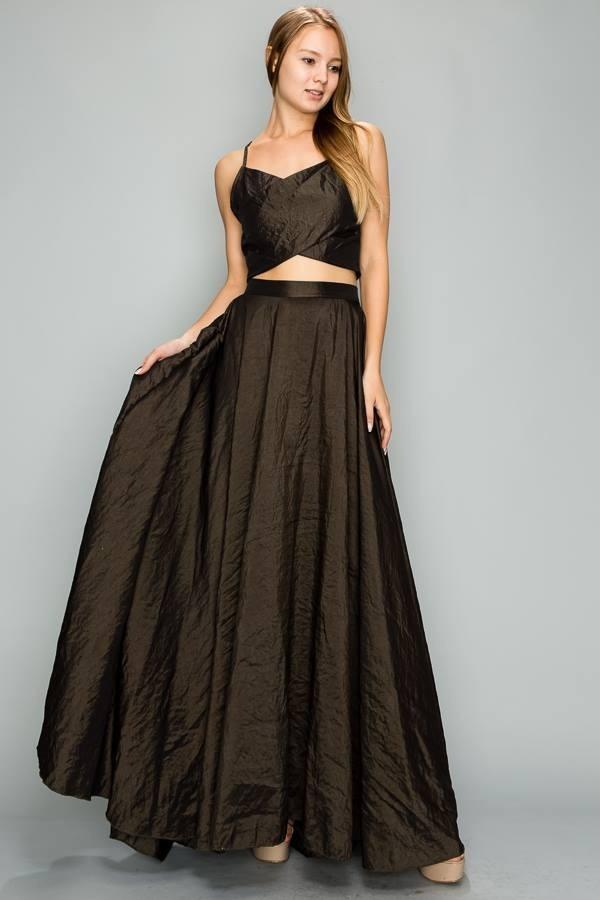 Vestidos de fiesta falda larga y blusa