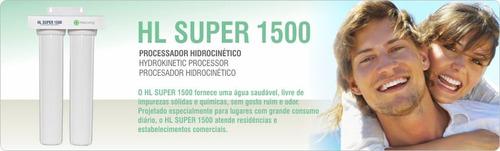 conjunto elementos filtrantes hailiving filtro hl super 1500