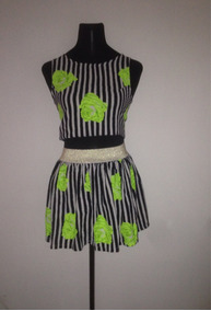 f082916fc9 Conjunto Crop Top Falda Tubo - Vestuario y Calzado en Mercado Libre ...