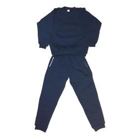 Conjunto Escolar (buzo Y Pantalon) Azul Marino Frisa