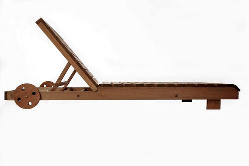 conjunto  espreguiçadeira kiruna + mesa d apoio + colchonete