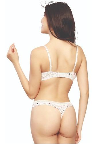 conjunto estampado de bra  y tanga sin costuras c23529-63529