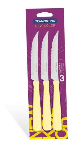 conjunto facas para churrasco 3 peças tramontina 23160334