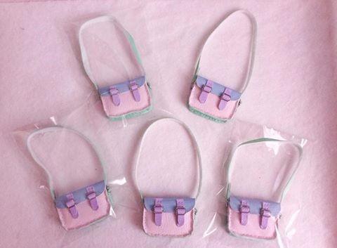 conjunto fairykei saia + blusa + bolsa dal, blythe ou pullip
