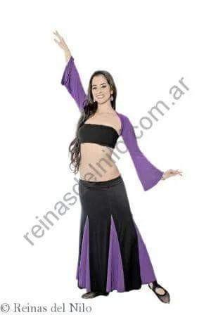conjunto falda y mangas con estampa danza arabe, belly dance