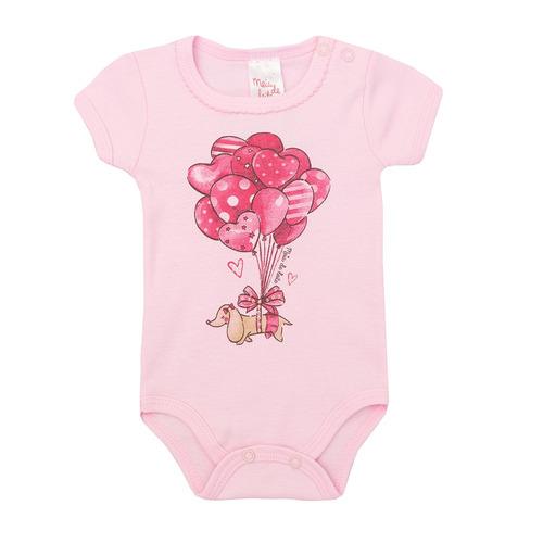 conjunto feminino bebê body e short corações