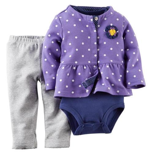 conjunto feminino bebê infantil importado - carters