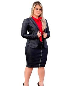 3b3e77bcfa Uniforme Vestido Com Blazer - Uniformes no Mercado Livre Brasil