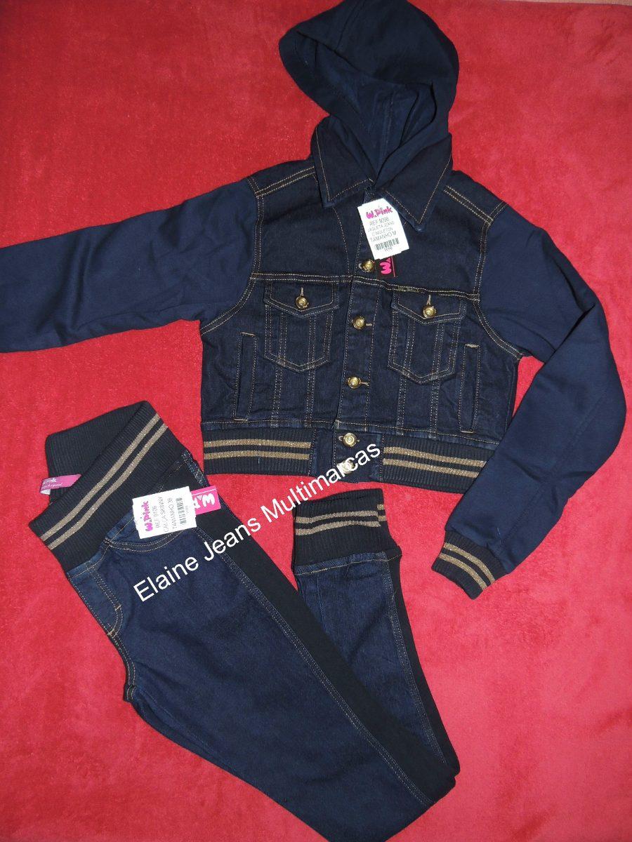 e648466322 conjunto feminino calça jaqueta jeans moleton. Carregando zoom.