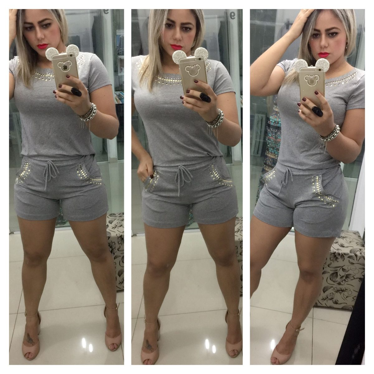 3567f435d2 Conjunto Feminino Com Pedras Roupas Da Moda São Paulo - R$ 129,90 em ...