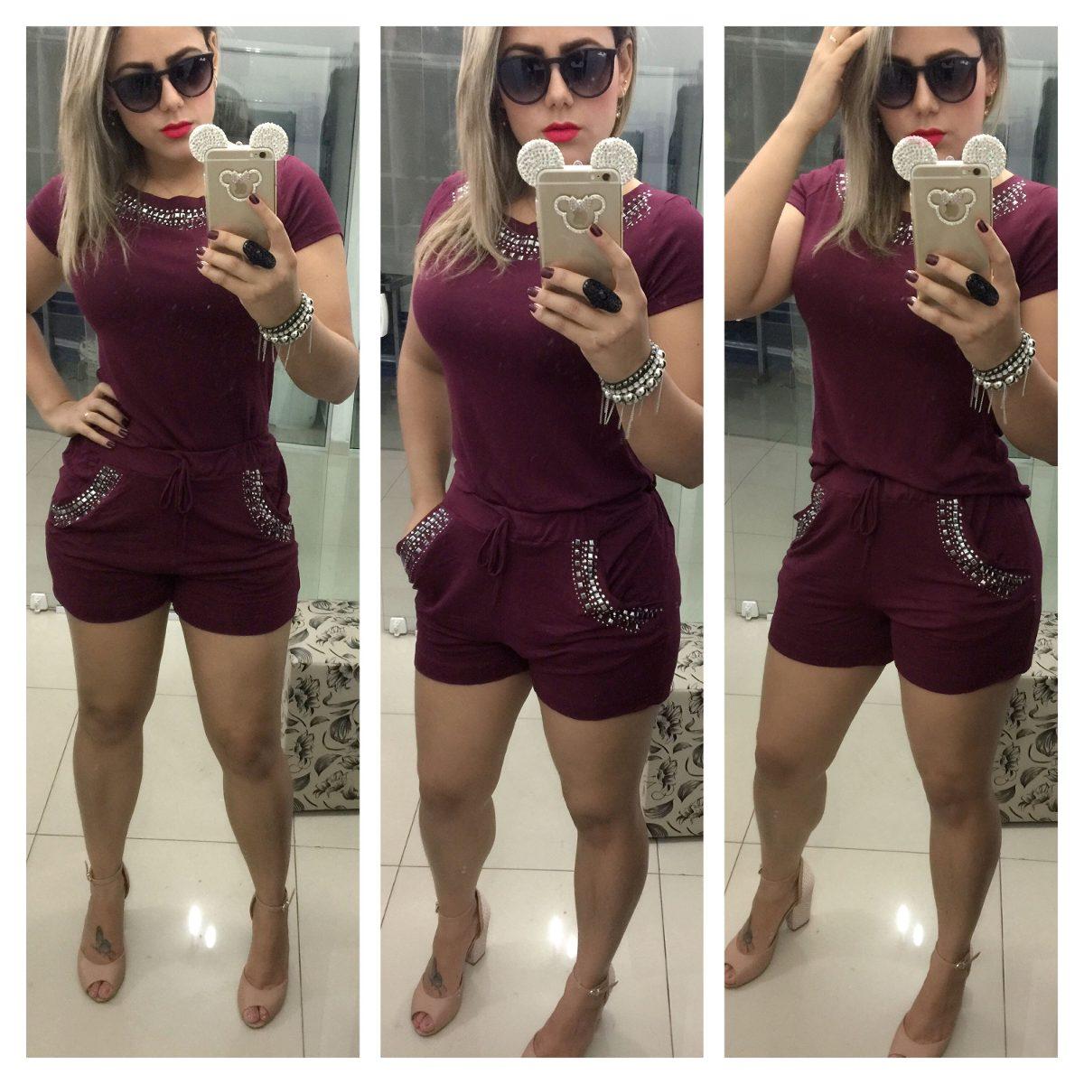 29d3c8c18 Conjunto Feminino Com Pedras Roupas Da Moda São Paulo - R$ 129,90 em ...
