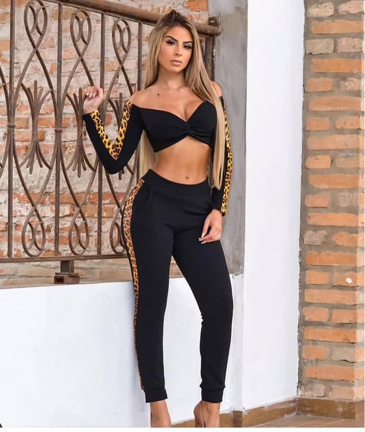 3fe359867 conjunto feminino cropped + calça moletom modinha blogueira. Carregando zoom .