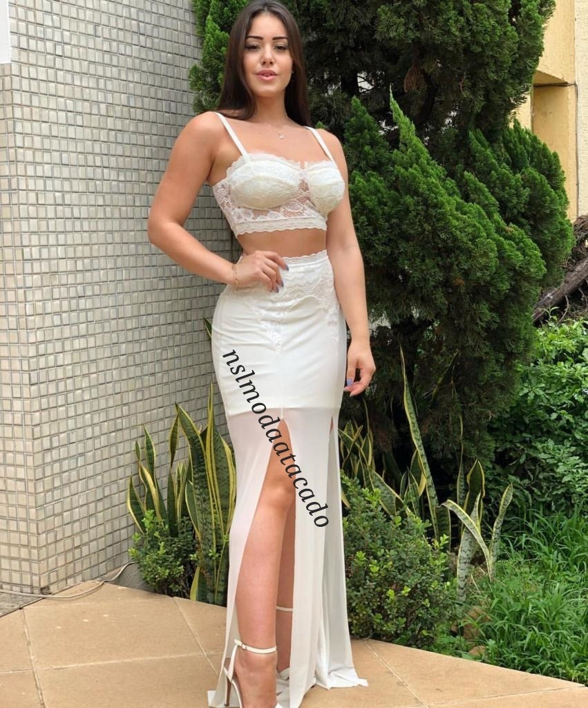 0de4098ea0 conjunto feminino cropped+saia longa com fendas reveillon. Carregando zoom.