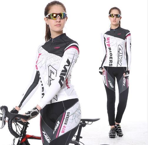 4d719b121 Conjunto Feminino Roupa Ciclismo Bike Camisa Longo Gel 3d - R  259 ...