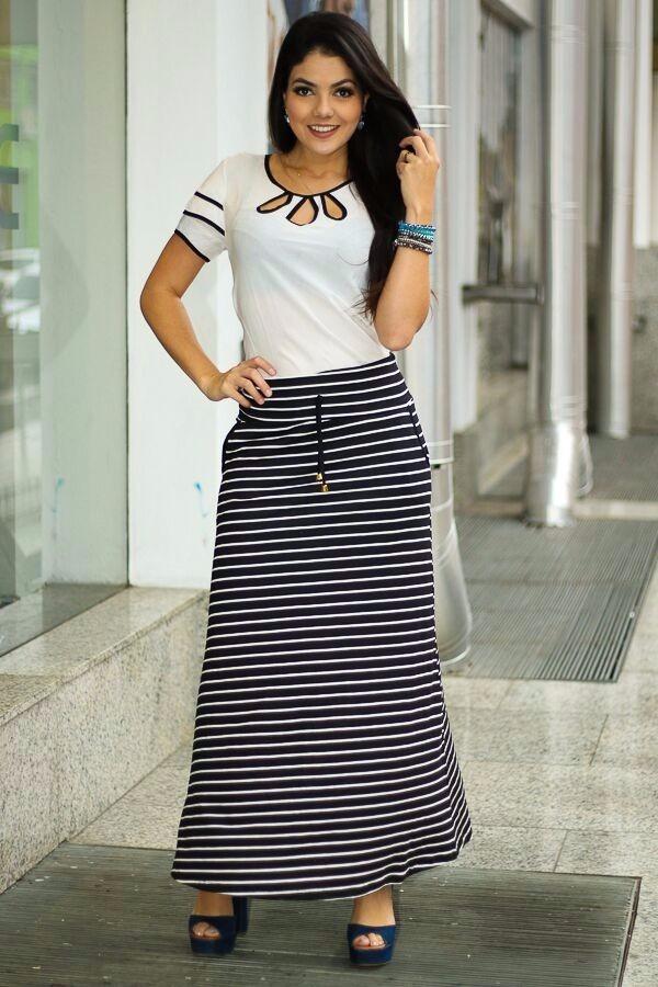 4eefc344e8 conjunto feminino saia longa + blusa gota moda evangélica. Carregando zoom.
