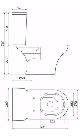 conjunto ferrum veneto inodoro + deposito dual blanco
