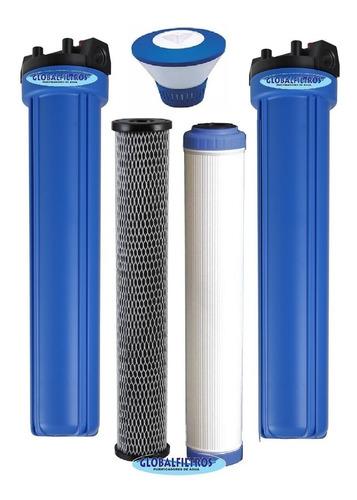 conjunto filtros tratamento água poço artesiano e nascentes