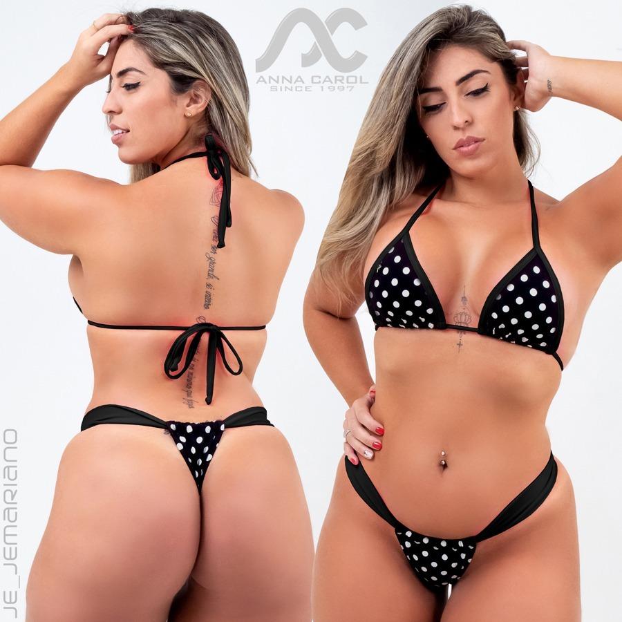 d275cca5bc Conjunto Fio Dental Bikinis Anna Carol Cortininha Sexy Bld-5 - R$ 99,90 em Mercado  Livre
