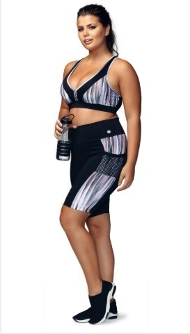 92e32eefc Conjunto Fitness Demillus Top E Bermuda - R  80