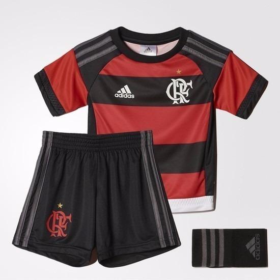 Conjunto Flamengo Infantil 2015 adidas Original Listrado - R  120 b08bd124b6983