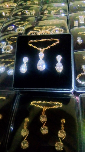 conjunto folheado a ouro semi joias presente ideal