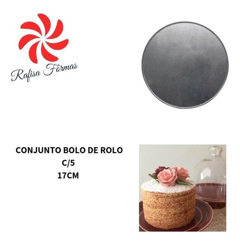 conjunto forma bolo de rolo redonda c/5 17cm