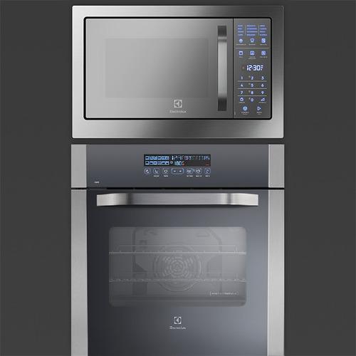 conjunto forno oe8tx + micro-ondas mb38t embutir electrolux