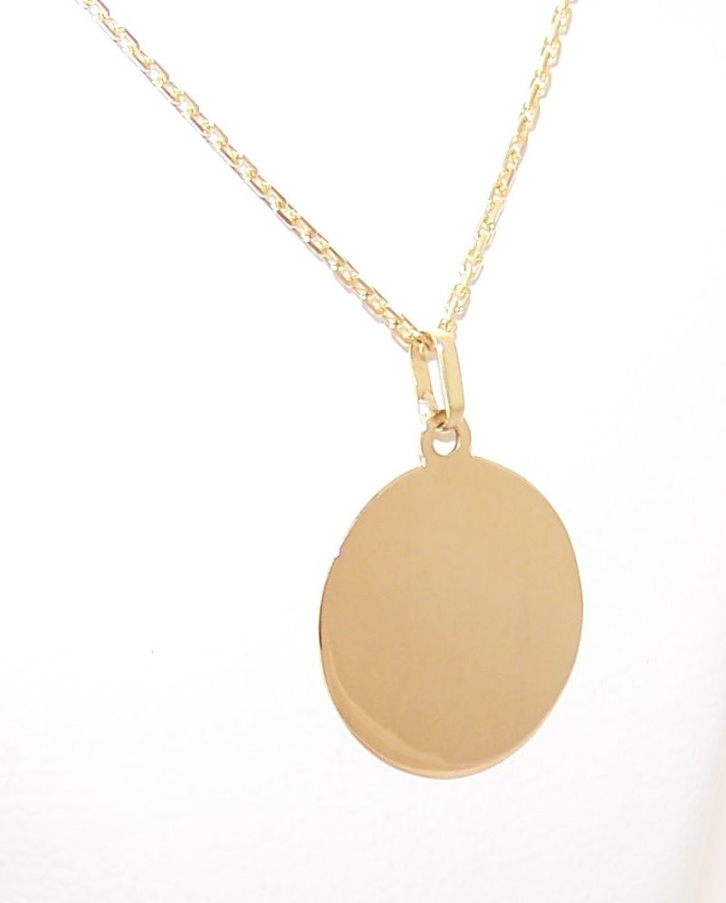 31f7d81bb6e6 Conjunto Foto Medalla Oro 18 K Redond 18mm 1.6g Cadena 50cm ...