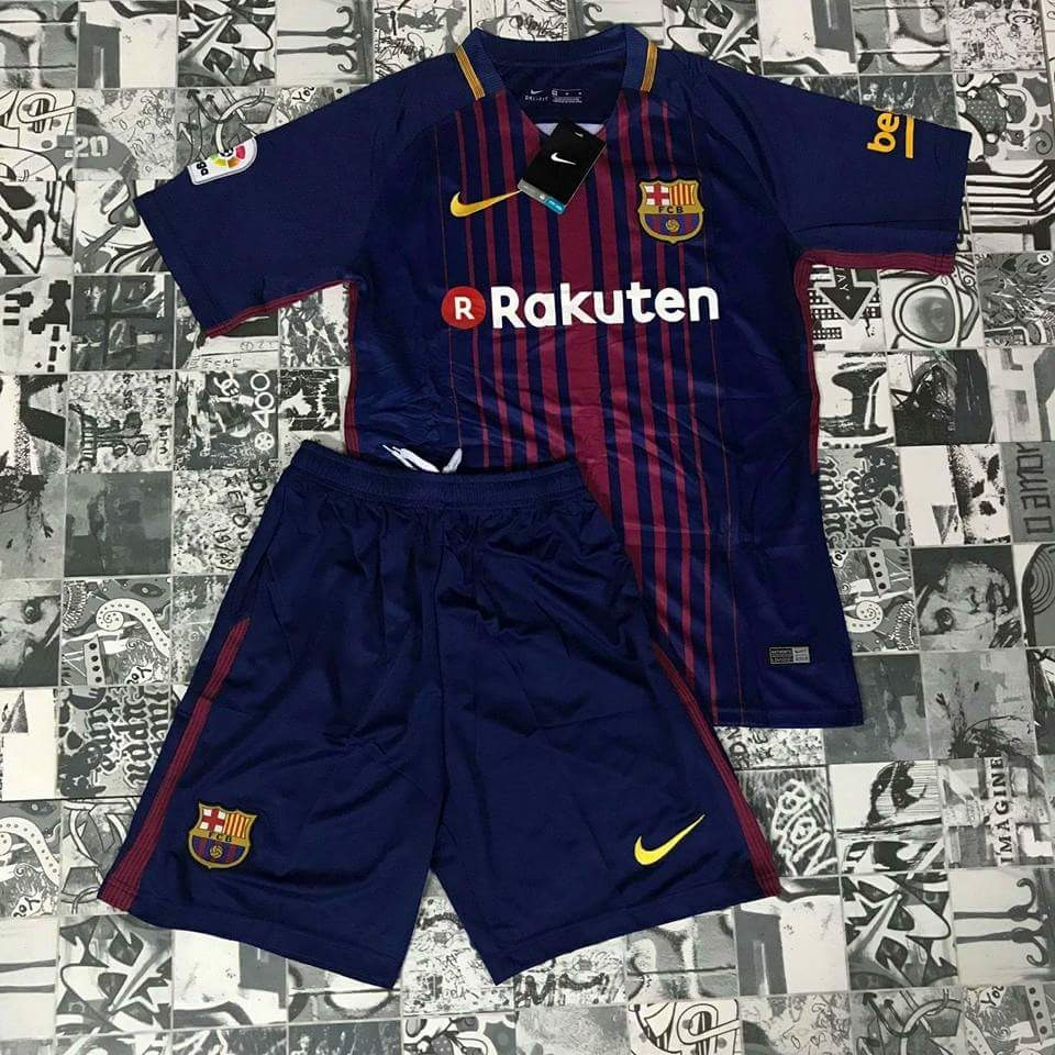 126dafa6cd conjunto futebol barcelona azul camisa + shorts infantil. Carregando zoom.