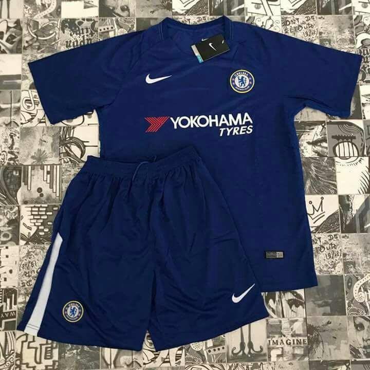 Conjunto Futebol Chelsea Azul Camisa + Shorts Infantil - R  120 edacf04ac8ad1