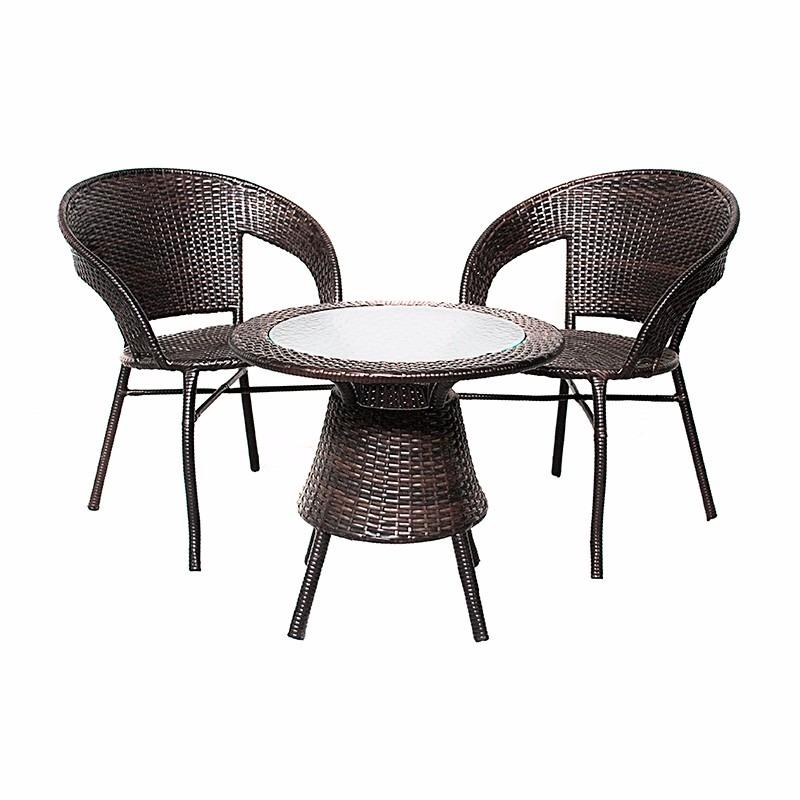 conjunto garden rattan mesa 2 cadeiras varanda sacada