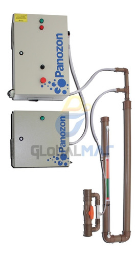 conjunto gerador de ozônio p/ piscinas stand 100 100mil lts