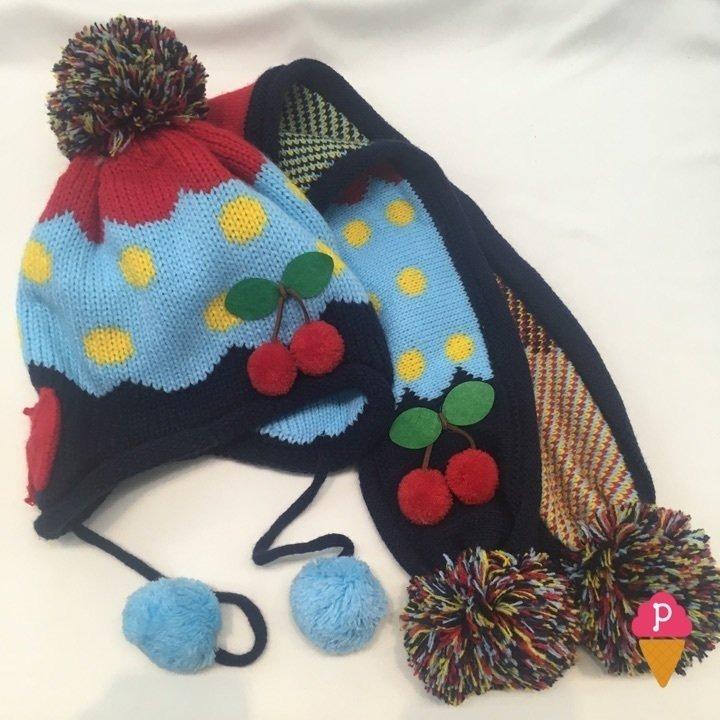 Conjunto Gorro E Cachecol Com Pompom - Azul E Rosa (azul) - R  33 7aa881777be
