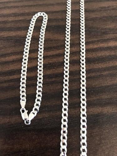 conjunto grumet 4,5mm prata 925 pulseira 4,5mm mais brinde