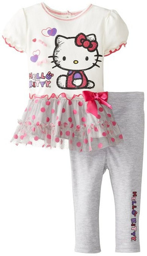 conjunto hello kitty bebe niñas 12 meses original sanrio
