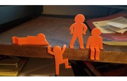 conjunto homenzinho fino boneco miniatura 4 poses posições