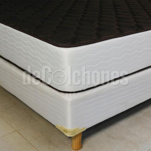 conjunto inducol linea dorada 140x190 + almohadas + sabanas
