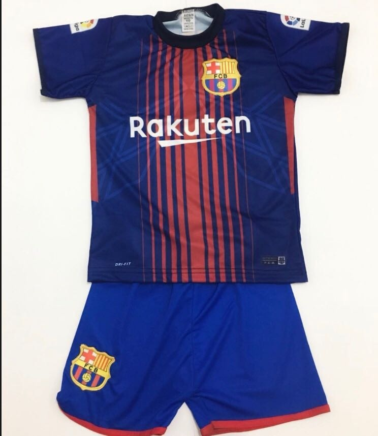 ea70320425e22 conjunto infantil barcelona barça messi uniforme kit. Carregando zoom.