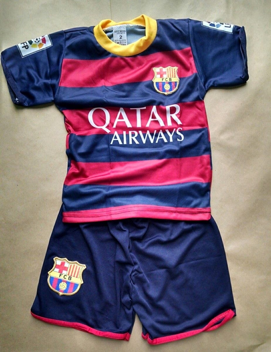 f5ccea2ef6 conjunto infantil barcelona novo azul shot e camiseta neymar. Carregando  zoom.