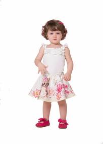 3d3ceff600 Conjunto Infantil Menina Body Renda Saia Gabriela Aquarela