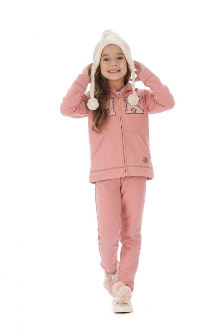4c12095f56 conjunto infantil calça e jaqueta rosa hello kitty. Carregando zoom.