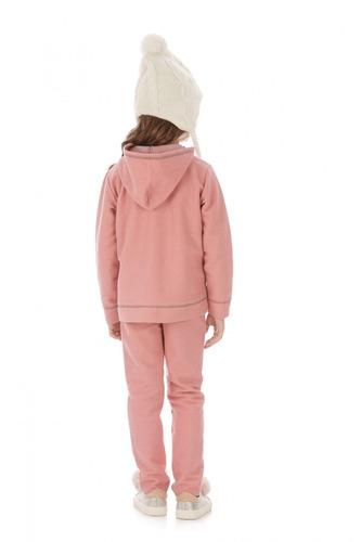 d619f6f532 Conjunto Infantil Calça E Jaqueta Rosa Hello Kitty - R  119
