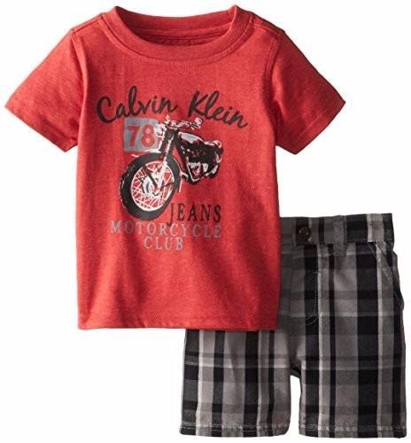 Conjunto Infantil Calvin Klein Camisa E Short 12 M - R  49,90 em Mercado  Livre ce309cf373
