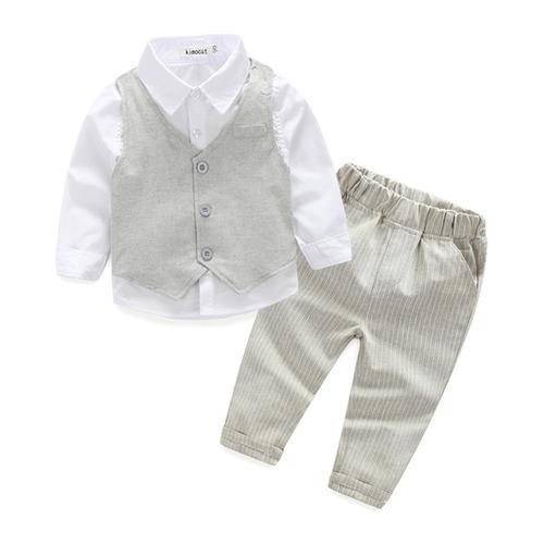 conjunto infantil camisa colete calça com leve defeito novo
