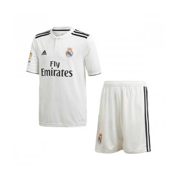 Conjunto Infantil Camisa E Shorts Futebol Real Madrid 2018 - R  145 ... 453fb6cd3e48e