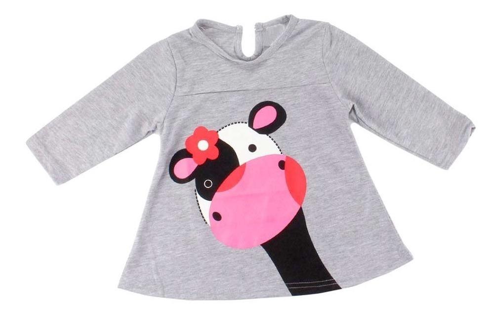 Conjunto Infantil Com Desenho Moda Bebe Lindo Fofo Fashion R 74
