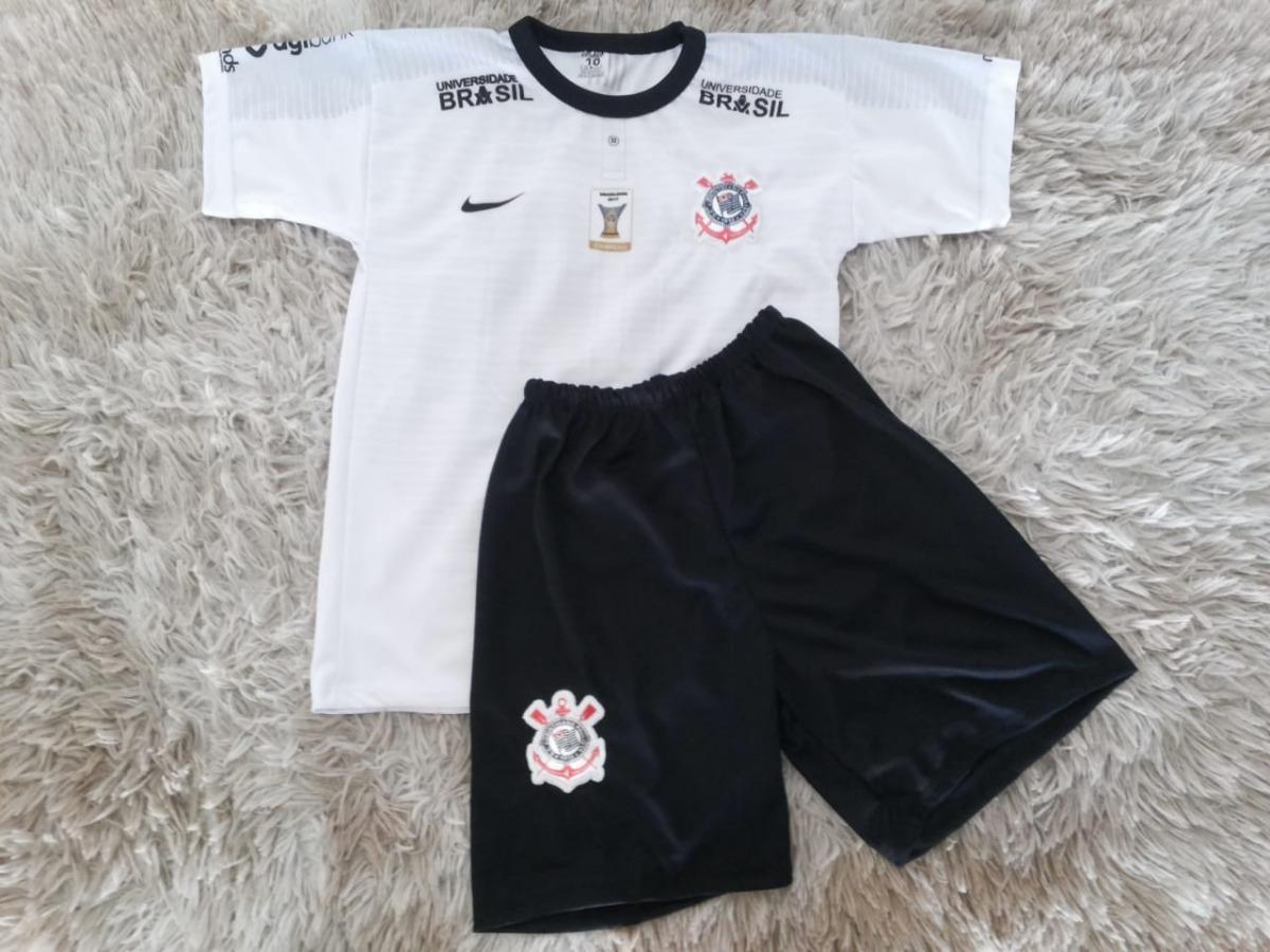7fb8a43acf conjunto infantil corinthians camisa shorts kit. Carregando zoom.